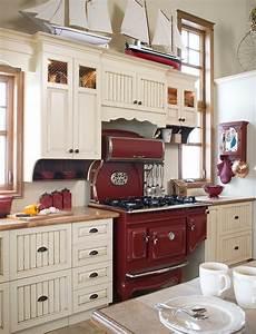 armoires de cuisine champetre en merisier quebec simard With cuisine et decoration