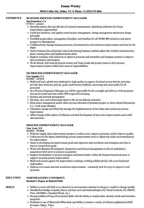 Process Improvement Manager Resume Samples  Velvet Jobs. Sample Resume For Marriage Proposal. Sample Resume For Experienced Linux System Administrator. How To List Communication Skills On A Resume. Resume Templates Free Printable. Best Career Objectives For Freshers Resume. Resume Form. Resume Format For Logistics Manager. Resume Format For Software Developer Fresher