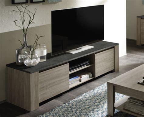 meuble cuisine suspendu meuble tv 2 portes elba chene gris ardoise