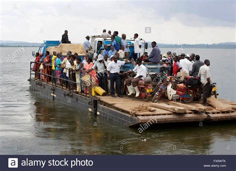 Ferry Boat Lake Victoria by Ferry Boat Crossing With Passengers On Lake Victoria In