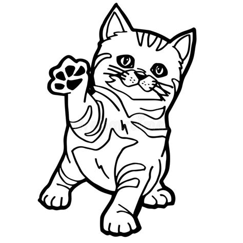 cat coloring page stock vector image  green tail