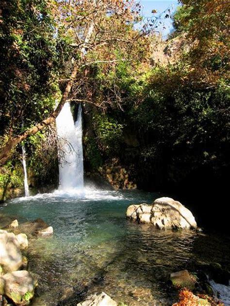 hike  israels banias falls   golan heights