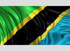 Stock Video Clip of Flag of Tanzania Beautiful 3d