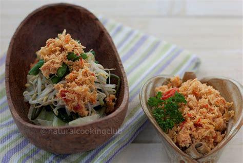 natural cooking club urap sayuran