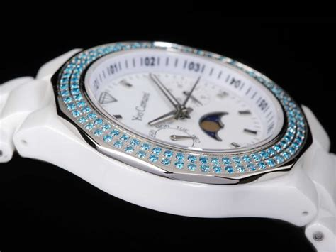 ebay blue lava l yves camani laval wrist blue white ceramic