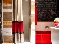striped shower curtains No-Sew Striped Shower Curtain Using Drapery Panels | HGTV