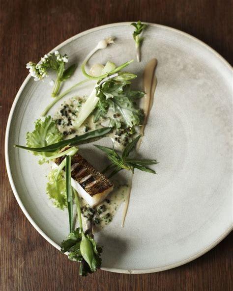 sandre cuisine sandre with vegetable stems and elderberrries
