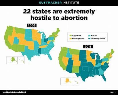 Abortion States Hostile Restrictions Rights Guttmacher State
