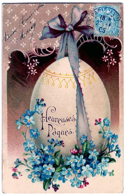 easter freebie french egg  flowers  graphics fairy
