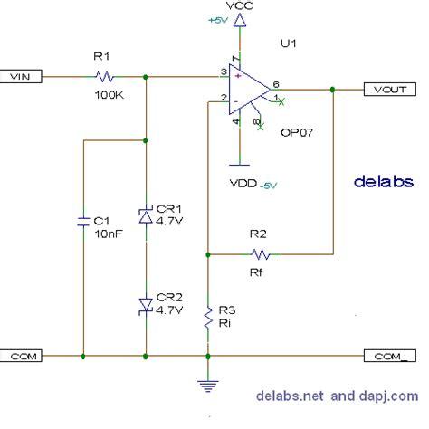Circuit Diagram For Non Inverting Amplifier