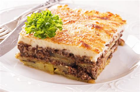 moussaka recipe traditional greek moussaka recipe moussaka with b 233 chamel my greek dish