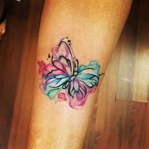 My new watercolor butterfly tattoo!!!! Cute and simple ...
