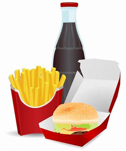 Clipart Fast Takeaway Meal Hamburger Clip Fries