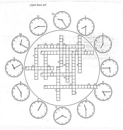 crucigrama  hora es httpwebgrinnelledu