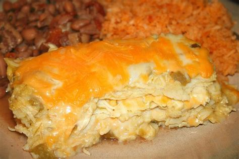 chicken enchilada casserole layered chicken enchilada bake page 2 of 2 awesome home recipes