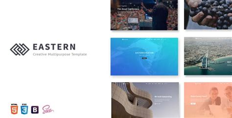 Eastern Creative Multipurpose Template Zip by Revolution Slider Templates From Themeforest