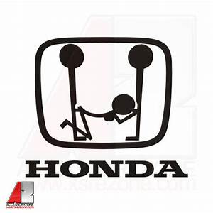 Accessories JDM Decals Naughty Honda Emblem