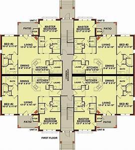 Architectural designs for 4 unit apartment building plans