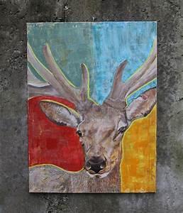Gemälde Hirsch Modern : kunst gem lde original leinwand bilder online kaufen malerei bad soden taunus ~ Orissabook.com Haus und Dekorationen