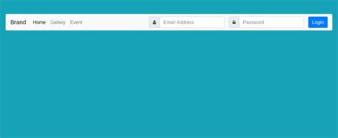bootstrap  navbar  horizontal login form design