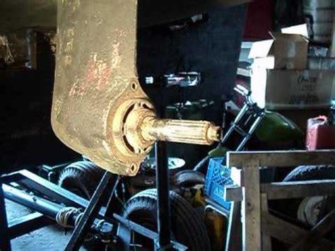 replacing  volvo penta  sail drive propeller part