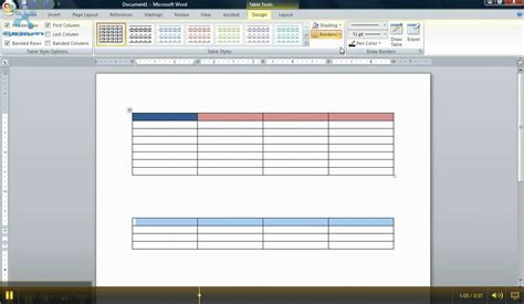 Where Do I Go On Microsoft To Make A Resume by How To Make A Chart In Word 2007