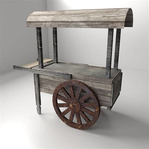 cuisines 3d food cart 3d model 3ds fbx blend dae cgtrader com