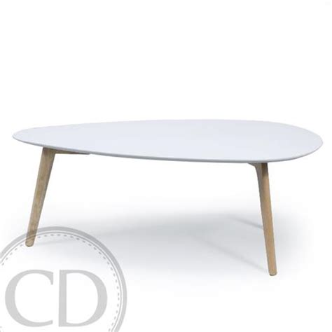 table basse blanche table basse scandinave blanche large bajo sur cdc design