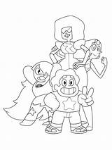 Steven Universe Coloring Pages Garnet Pearl Printable Amethyst Gems Crystal Drawings Steve Info Seven Presented Statuette Honorary Oscars Dwarfs Oscar sketch template