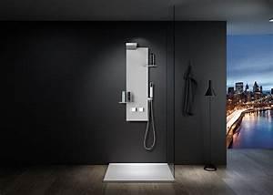 Colonne De Douche Blanche : colonne de douche blanche design avec d me de pluie s050w ~ Dailycaller-alerts.com Idées de Décoration