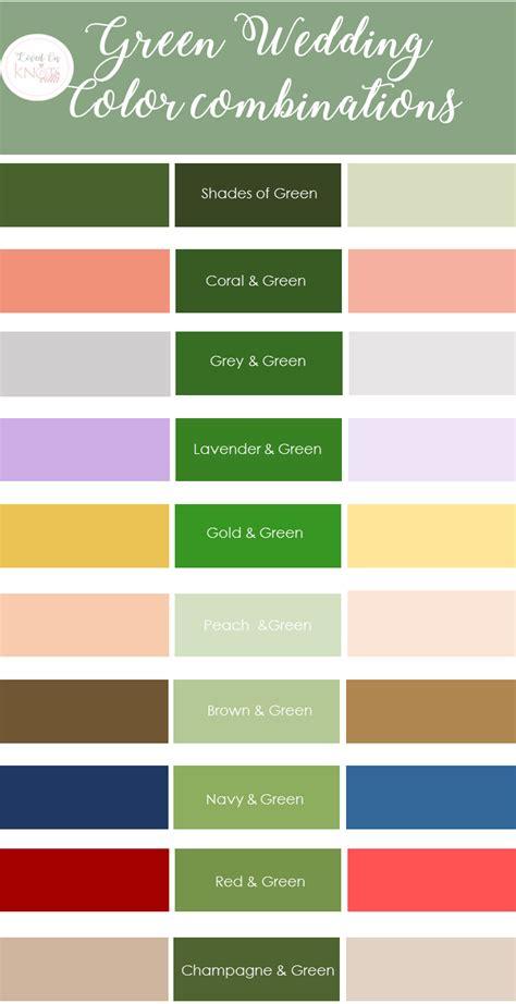 Green Wedding Color Combinations  Knotsvilla