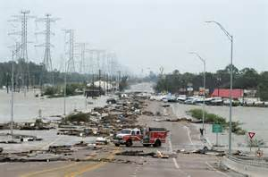 Galveston Seawall After Hurricane Ike