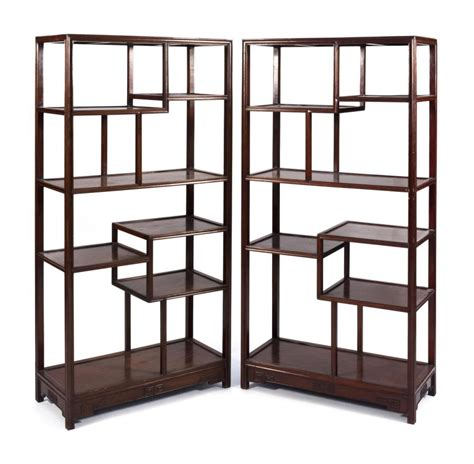 Tiered Shelves For Cabinets by Pair Of Hongmu Open Display Cabinets With Seven Tier