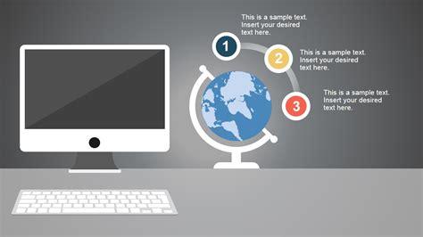 modern computer desk powerpoint template slidemodel