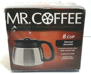 Other features include a dim. Mr. Coffee DRD95 8-Cup Stainless Steel Double-Walled Thermal Carafe 72179231523 | eBay