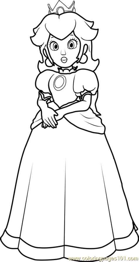princess peach coloring page  super mario coloring pages coloringpagescom
