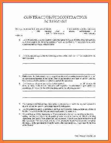 contractor agreement form marital settlements information