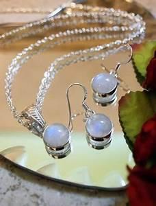 bella moonstone necklace and earring set, bella moonstone ...