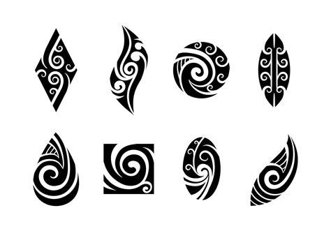 set  koru maori vector tattoos maori tattoo designs tribal tattoos koru tattoo