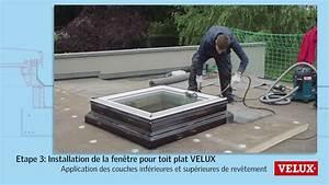 Rehausse Velux Toit Faible Pente : remplacement facile d 39 une ancienne coupole par une fen tre de toit plat velux youtube ~ Nature-et-papiers.com Idées de Décoration