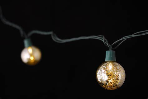 mercury glass globe string lights 10ct 9ft green cord