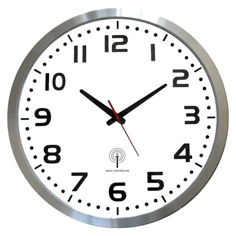 cuisine alinea horloge murale radio pilotée entourage argenté horloge