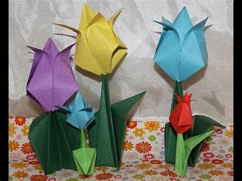 tulpe aus papier basteln zahme wellis auf meiner