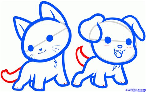 draw kawaii animals step  step anime animals