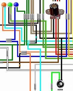 Honda Cb200t Twin Uk Spec Colour Wiring Loom Diagram