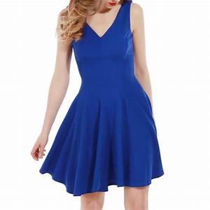 pin robe bleu on pinterest With robe droite col v