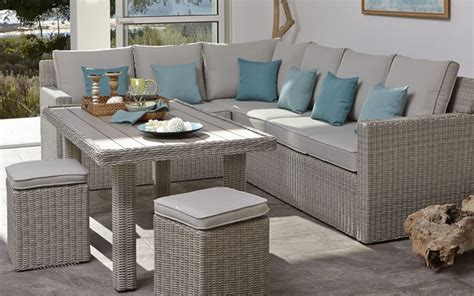 Modern Dining Room Sets With Bench by Praslin Rattan Effect Sofa Amp Dining Table Contemporary
