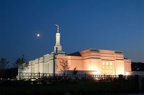 spokane washington temple   evening