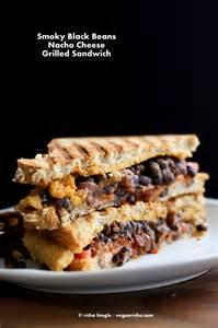 smoky black bean nacho cheese sandwich vegan recipe