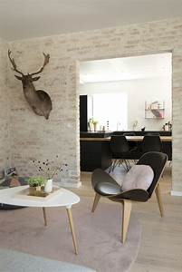 Decoration Mur Interieur Salon : deco pierres apparentes style scandinave picslovin ~ Preciouscoupons.com Idées de Décoration